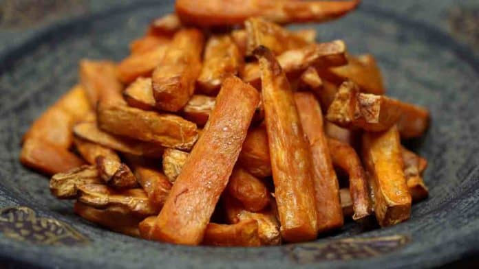 Health benefits of cooking sweet potatoes in air fryer and pressure cooker.