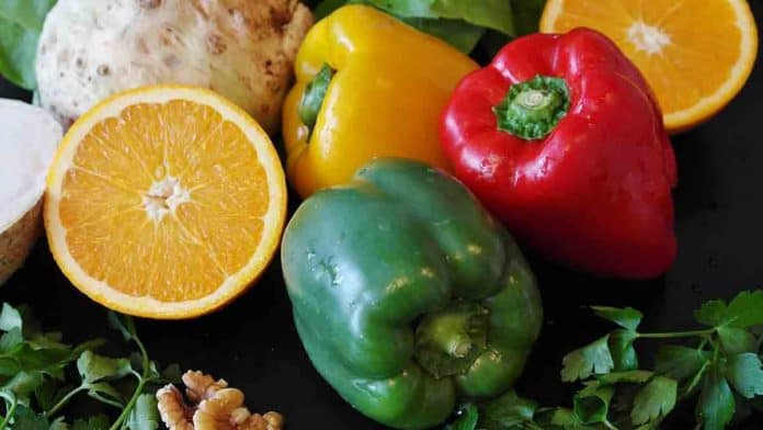 Bell peppers have more vitamin C than orange juice.