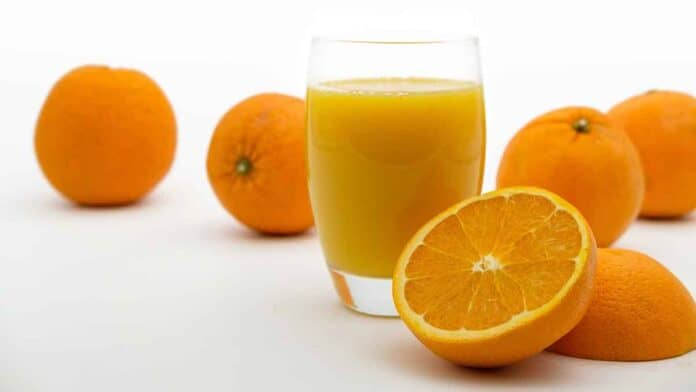 Orange juice is good for the skin!